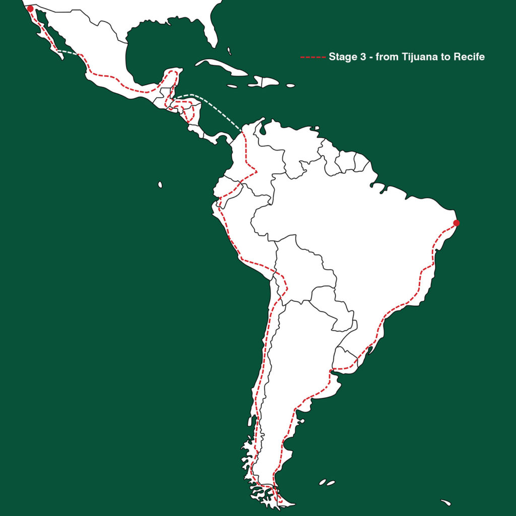 South America routemap